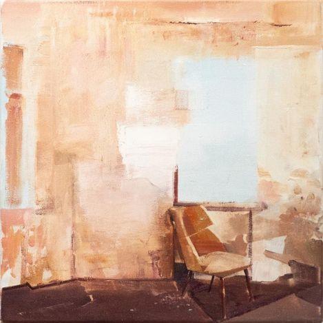 David Ralph, Break Down (sketch) (2020). Oil on canvas, 40 x 40 cm. Courtesy Gallery 9, Sydney.