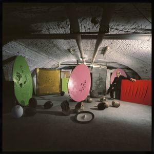 Lucio Fontana's Studio by Ugo Mulas contemporary artwork