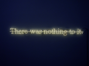 There was nothing to it by Joseph Kosuth contemporary artwork