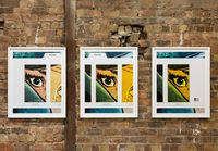 Filter #2 (Triptych/Yellow) by Anne Collier contemporary artwork print