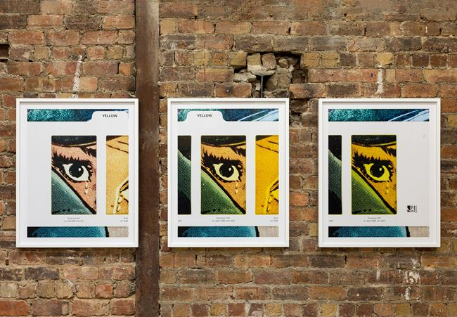 Filter #2 (Triptych/Yellow) by Anne Collier contemporary artwork