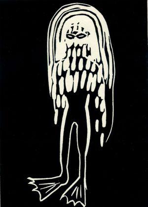 Skywalker_mit_flossen (black) by YI YOUJIN contemporary artwork