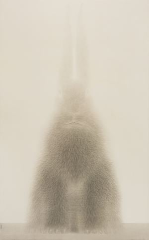 Rabbit Portrait - Dingyou 1 by Shao Fan contemporary artwork