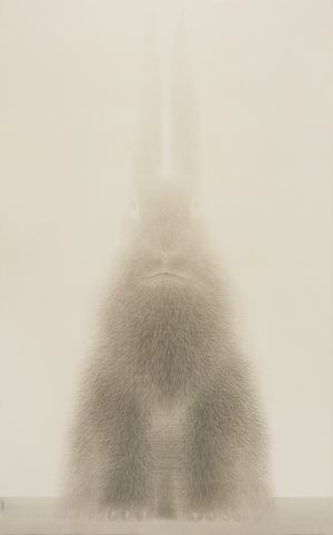 Rabbit Portrait - Dingyou 1 by Shao Fan contemporary artwork works on paper, drawing