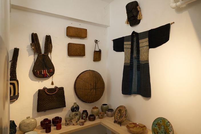 Exhibition view: Group Show,The Mingei, curated by Nicolas Tremblay, SHOP Taka Ishii Gallery, Hong Kong (9 October–15 November 2020). Courtesy SHOP Taka Ishii Gallery, Hong Kong. Photo: Anthony Kar-Long Fan.