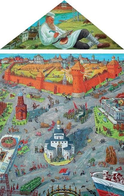 Travelling Worldwide: Russia (Top) / (Bottom) by Liu Dahong contemporary artwork