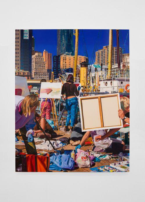 Plein Air Painting Class by Van Hanos contemporary artwork