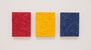 Red/Yellow/Blue Ratio Triptych #2 by James Hayward contemporary artwork