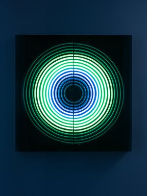 Breathe from Pineal to Hara by Jeppe Hein contemporary artwork