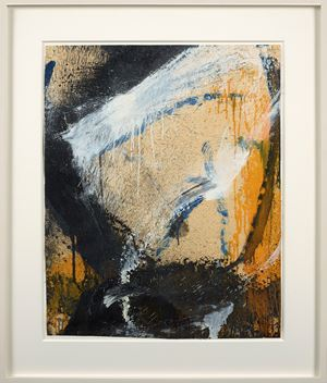 Untitled/Yellow, White and Black by Norman Bluhm contemporary artwork