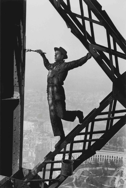 The Painter on the Eiffel Tower, Paris by Marc Riboud contemporary artwork