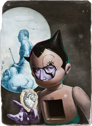 Revealing of the Astro Boy 原子小金剛的真心流露 by Kuo Wei-Kuo contemporary artwork