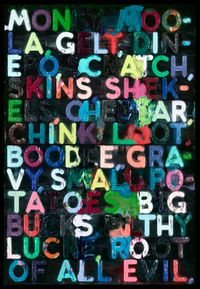 Money by Mel Bochner contemporary artwork painting