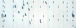 Skaters and Shadows, St. Moritz, Switzerland by David Ondaatje contemporary artwork