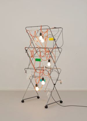 Non-Indépliable, nue – Strive and Stake Orange by Haegue Yang contemporary artwork