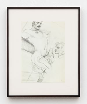 "Untitled (Preparatory Drawing for Kake Vol. 21 - ""Greasy Rider"") by Tom of Finland contemporary artwork"