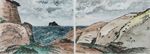 Keelung Islet with Sandstone Foreground by Chuan-Chu Lin contemporary artwork