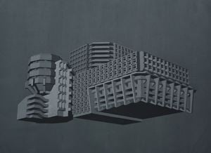 Modernist Facades for New Nations (Proposition 1) by Sahil Naik contemporary artwork