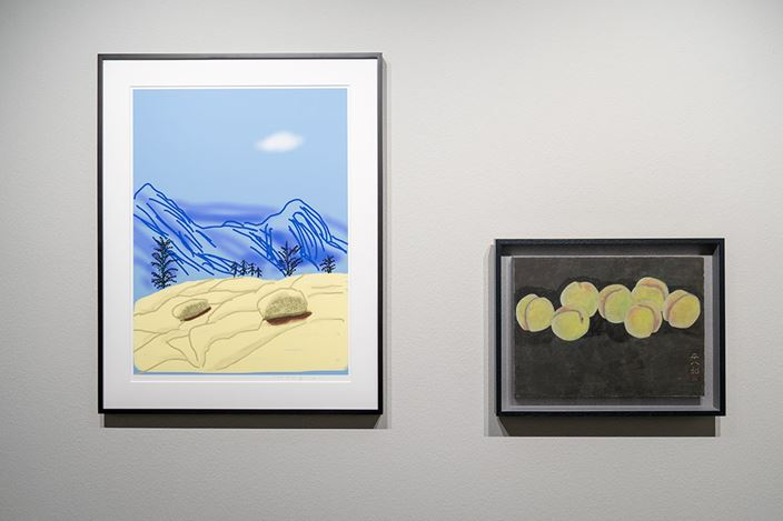 Exhibition view: David Hockney, Heihachiro Fukuda: An Encounter of Two Colorists, THE CLUB, Tokyo (16 February–30 March 2019). Courtesy THE CLUB.