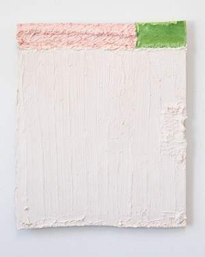 Untitled (pink and green stripe) by Louise Gresswell contemporary artwork