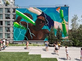 Painter Henry Taylor's floating self-portrait to materialize as a mural at the High Line park in Manhattan