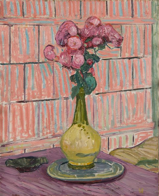Les roses rouges by Cuno Amiet contemporary artwork