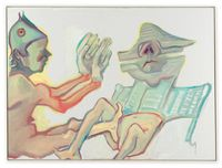 Fraternité by Maria Lassnig contemporary artwork painting
