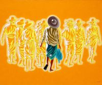 Traveller 14 by Min Wae Aung contemporary artwork painting