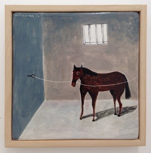Horse in Stall  by Noel McKenna contemporary artwork