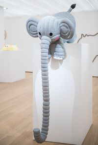 Bubblecoat Elephant II by Florentijn Hofman contemporary artwork sculpture