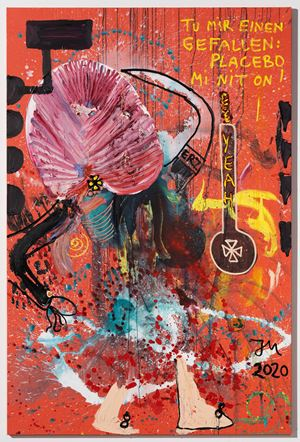 """FRÄULEIN MOHNKÜCHLE!"" by Jonathan Meese contemporary artwork"