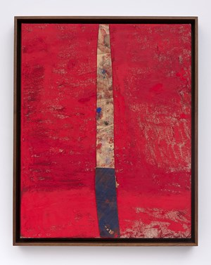 VERT. RED by Sterling Ruby contemporary artwork