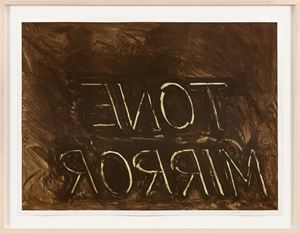Tone Mirror by Bruce Nauman contemporary artwork