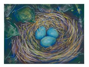 Robin's nest 4 by John Kelsey contemporary artwork