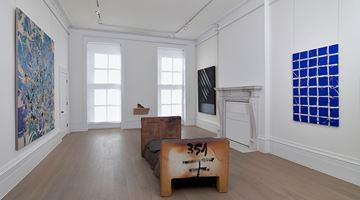 Contemporary art exhibition, Group Exhibition, Simon Hantaï, Pierre Soulages and Antoni Tàpies at Timothy Taylor, London