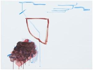 ohne Titel (Wirklichkeit erschlägt Kunst) 5 by Michael Krebber contemporary artwork