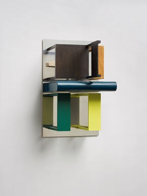 Double Mirrors (with Yellow and Green) by Nahum Tevet contemporary artwork