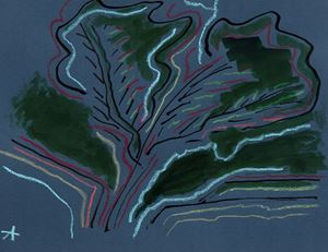 Arbre 4 by Etel Adnan contemporary artwork