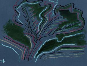 Arbre 4 by Etel Adnan contemporary artwork