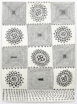 Between Tonga and Aotearoa by John Pule contemporary artwork works on paper, drawing