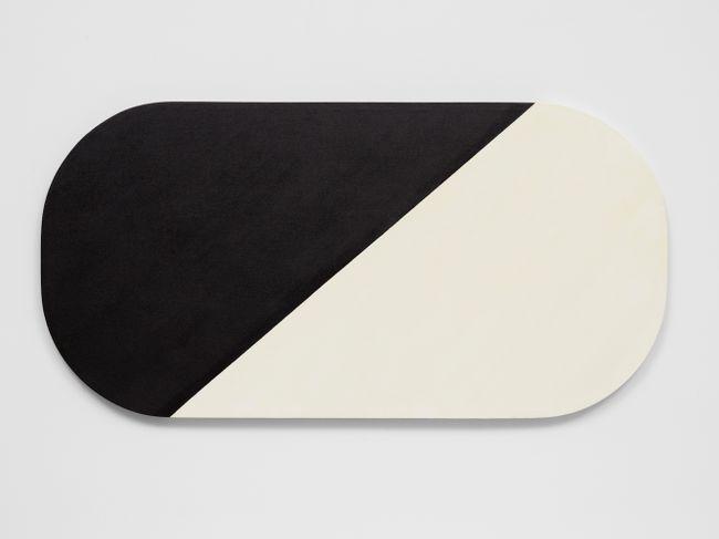Black White Diagonal by Leon Polk Smith contemporary artwork