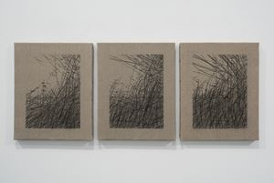 Le vent qui roule un coeur by Joël Andrianomearisoa contemporary artwork
