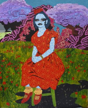 Thea in the Garden by Cynde Jasmin Coleby contemporary artwork