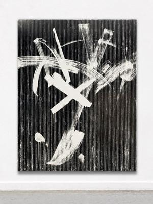 weiße Bewegungn (zu PAAR) by Gregor Hildebrandt contemporary artwork