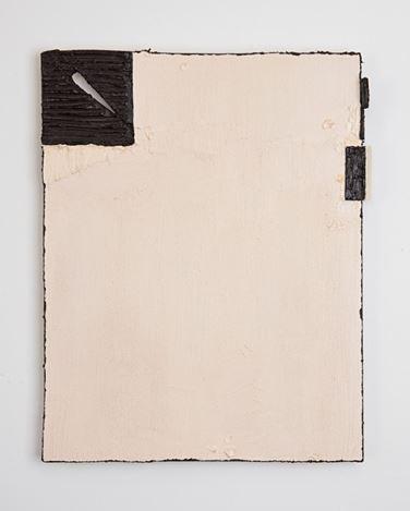 Louise Gresswell, Untitled (black edge) (2019). Oil on board, 36 x 28 cm. Courtesy Gallery 9, Sydney.