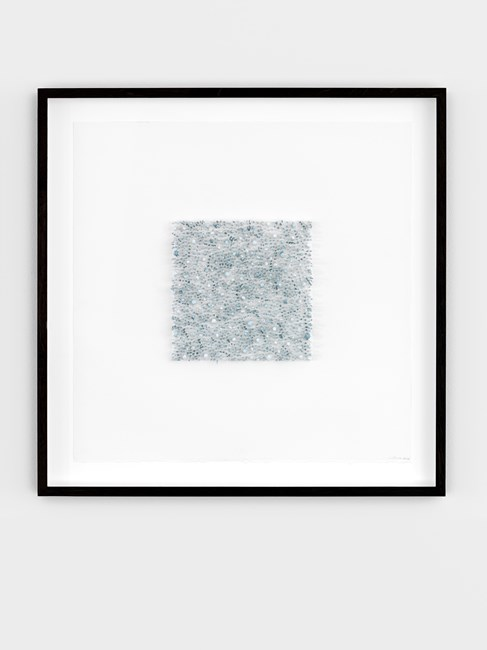 Grey square 04 (Turquoise) by Lars Christensen contemporary artwork
