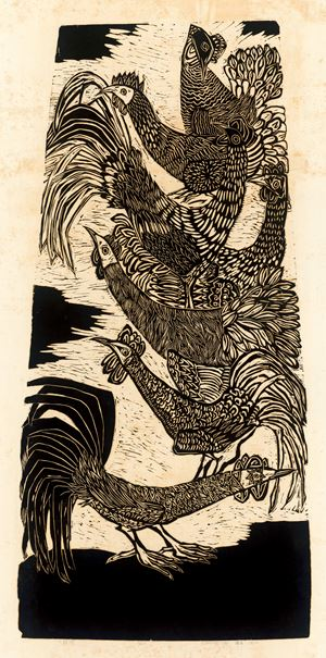 Seven Chickens by Chu Wei-Bor contemporary artwork