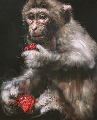 Lonely Monkey #1 by Li Tianbing contemporary artwork painting