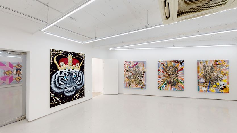 Exhibition view: Kyoung Tack Hong, Kyung Mi Lee, Jihee Kim, ICONIC, Art Delight Gallery, Seoul (4 November–4 December 2020). Courtesy Art Delight Gallery.