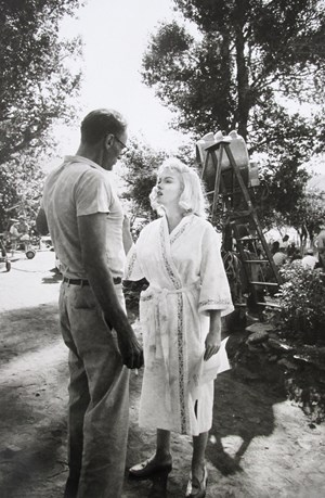Marilyn Monroe and Arthur Miller by Eve Arnold contemporary artwork